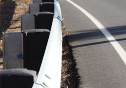 image of guardrail along roadway